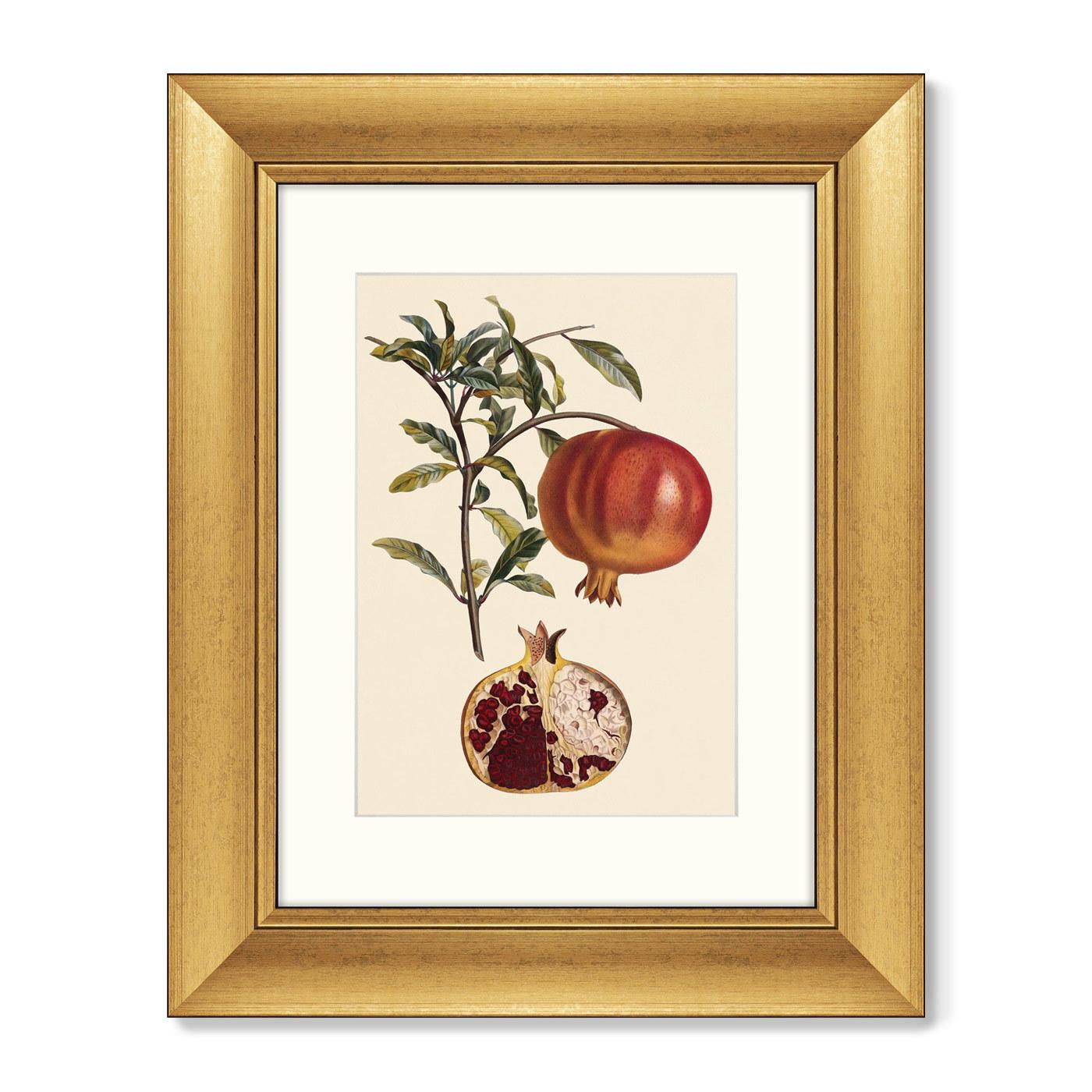 Диптих Juicy fruit lithography №10, 1870г. (из 2-х картин)