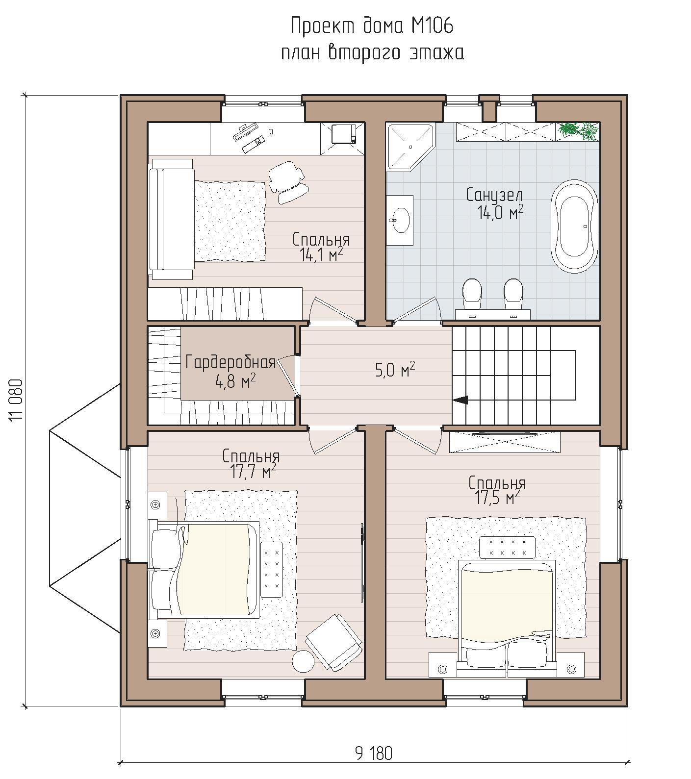 Удобный коттедж в традиционной архитектуре