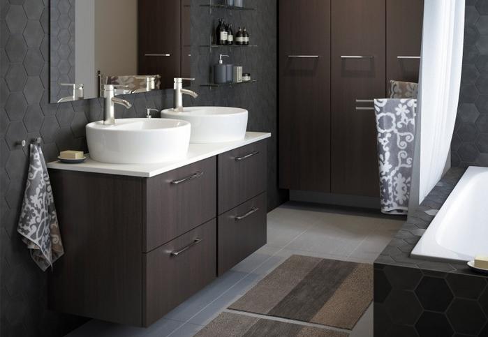 Компактная мебель для ванной комнаты