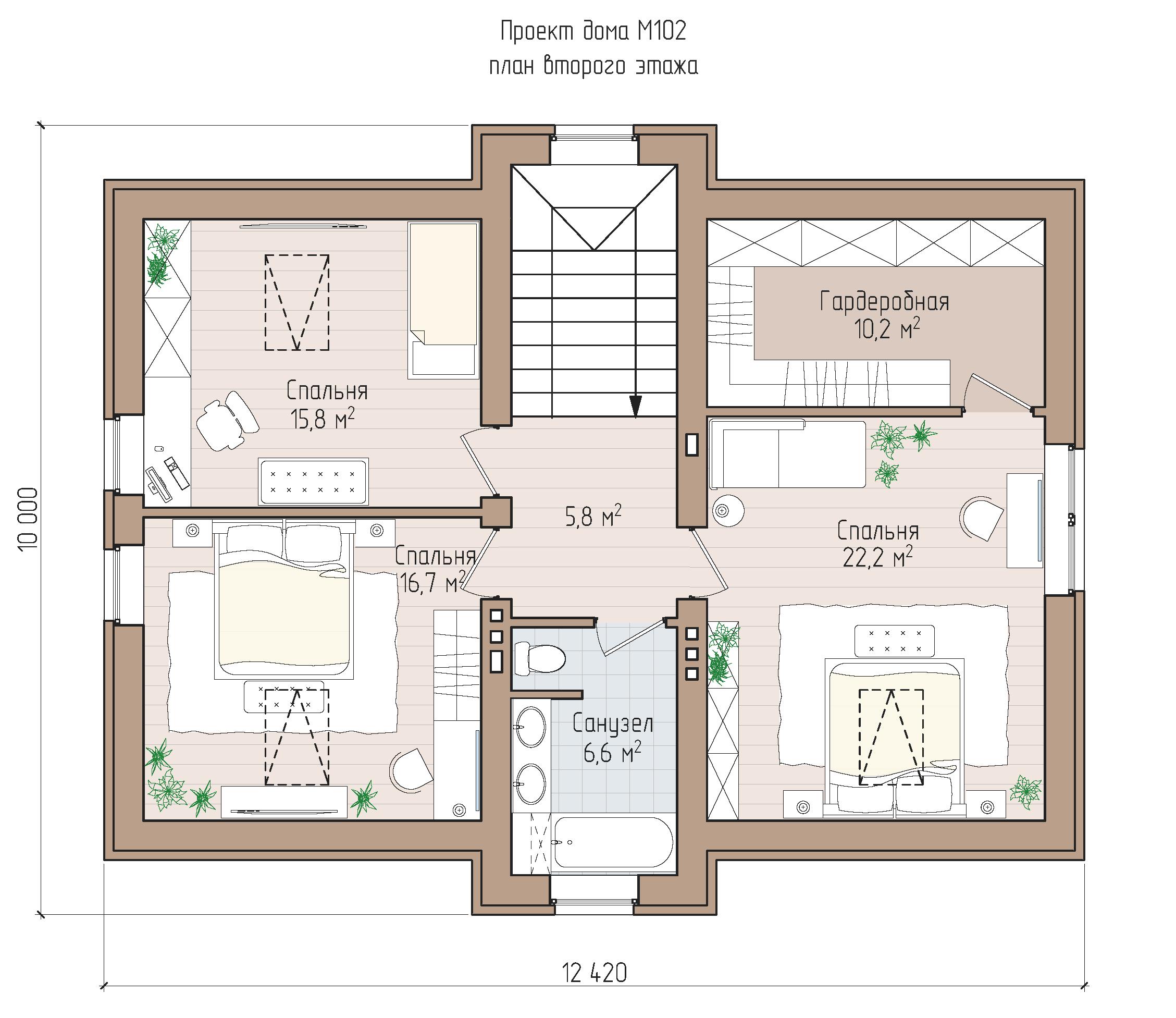 Современный коттедж с удобной планировкой