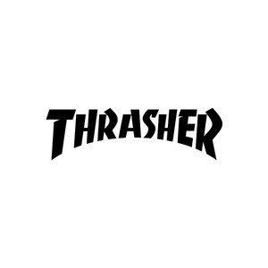 Толстовка (худи) THRASHER Rainbow Mag Hood (Black)
