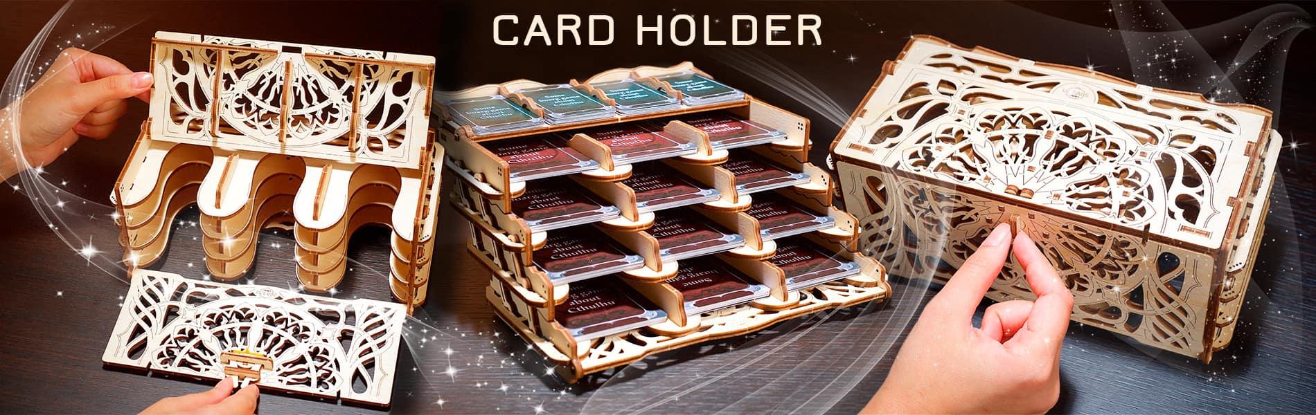 Card Holder: устройство для хранения игральных карт (Ugears Games)