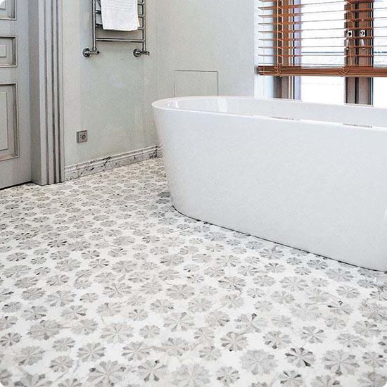 Мозаика на полу в ванной комнате FIO-2