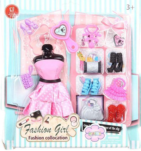 Одежда и аксессуары для куклы 29 см (платье, обувь, сумочки)