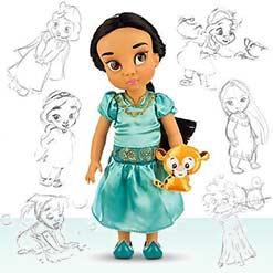 малышка кукла Жасмин с питомцем от дисней аниматорз
