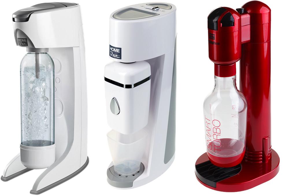 Сифоны Homebar слева направо Smart 110, Elixir Evolution, Smart Turbo