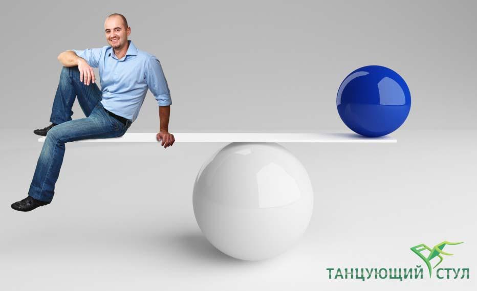 Распределение внимания при балансе