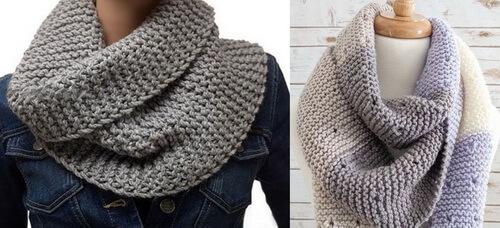 Платочная вязка - шарфы