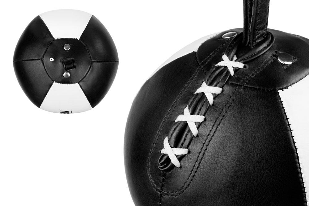 Груша на растяжках Dozen Absolut Double And Bag черно-белая конструкция