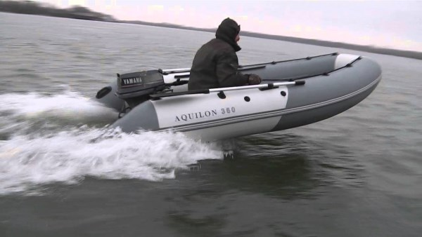 Глиссирование лодки ПВХ