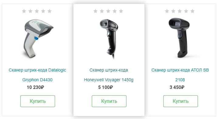 Примеры 2D-сканеров