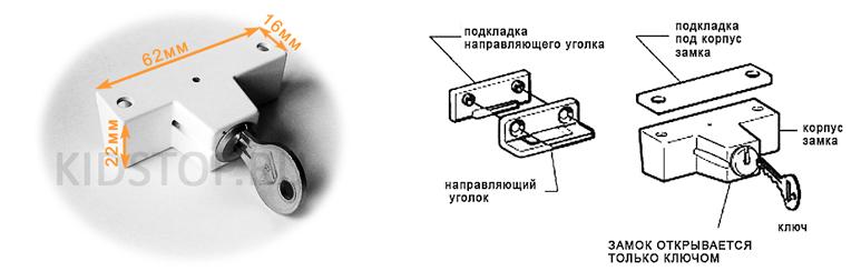 размеры замка рото