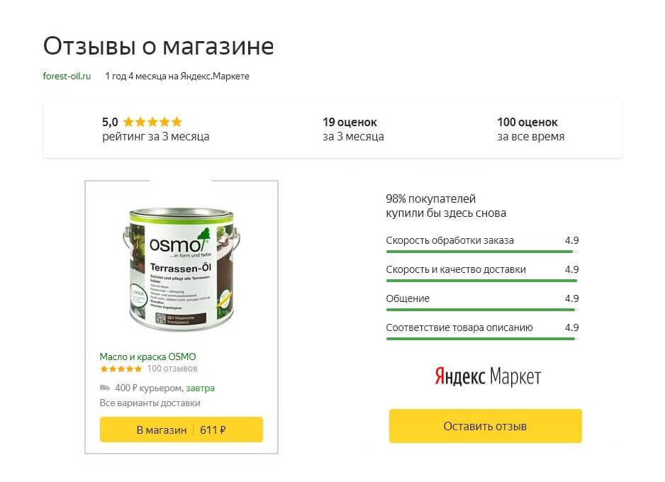 Наш магазин на Яндекс Маркете
