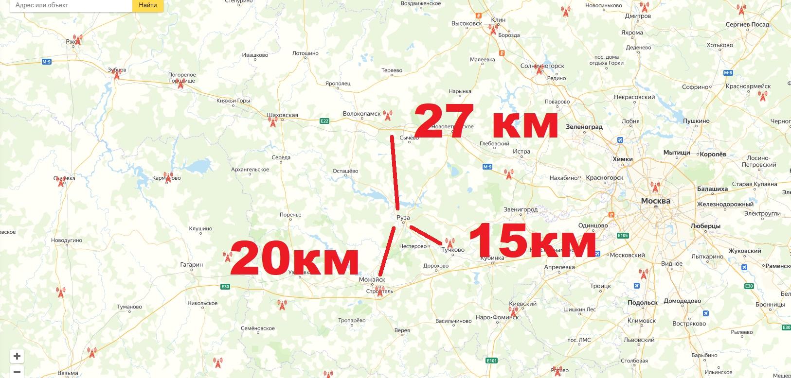 Куда направлять антенну для приема цифрового телевидения в Московской области