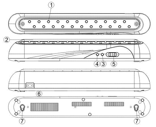 Устройство аккумуляторного led-светильника Feron EL14