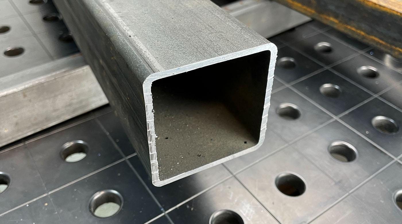Результаты резки профильной трубы 60х60х3,5 мм