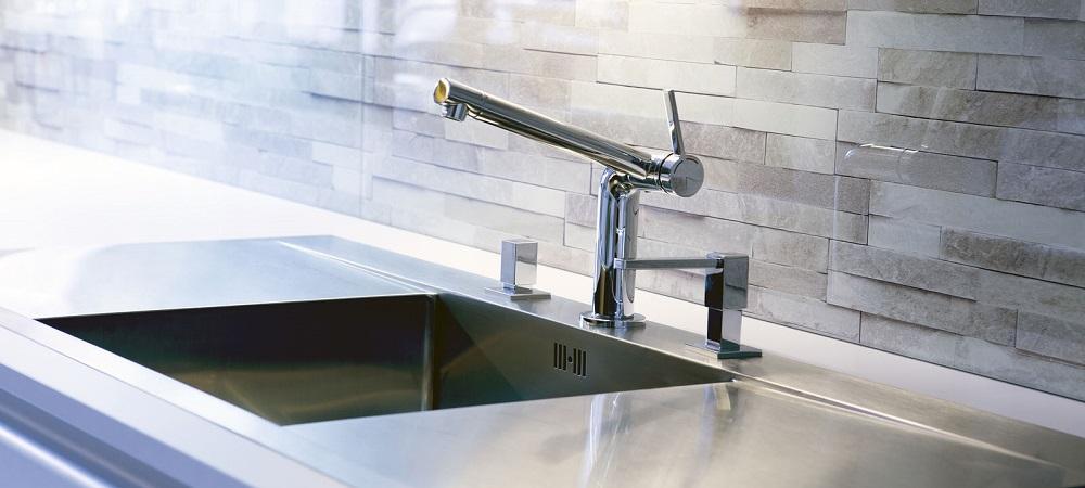 Хай-тек смеситель для кухни с прямым изливом