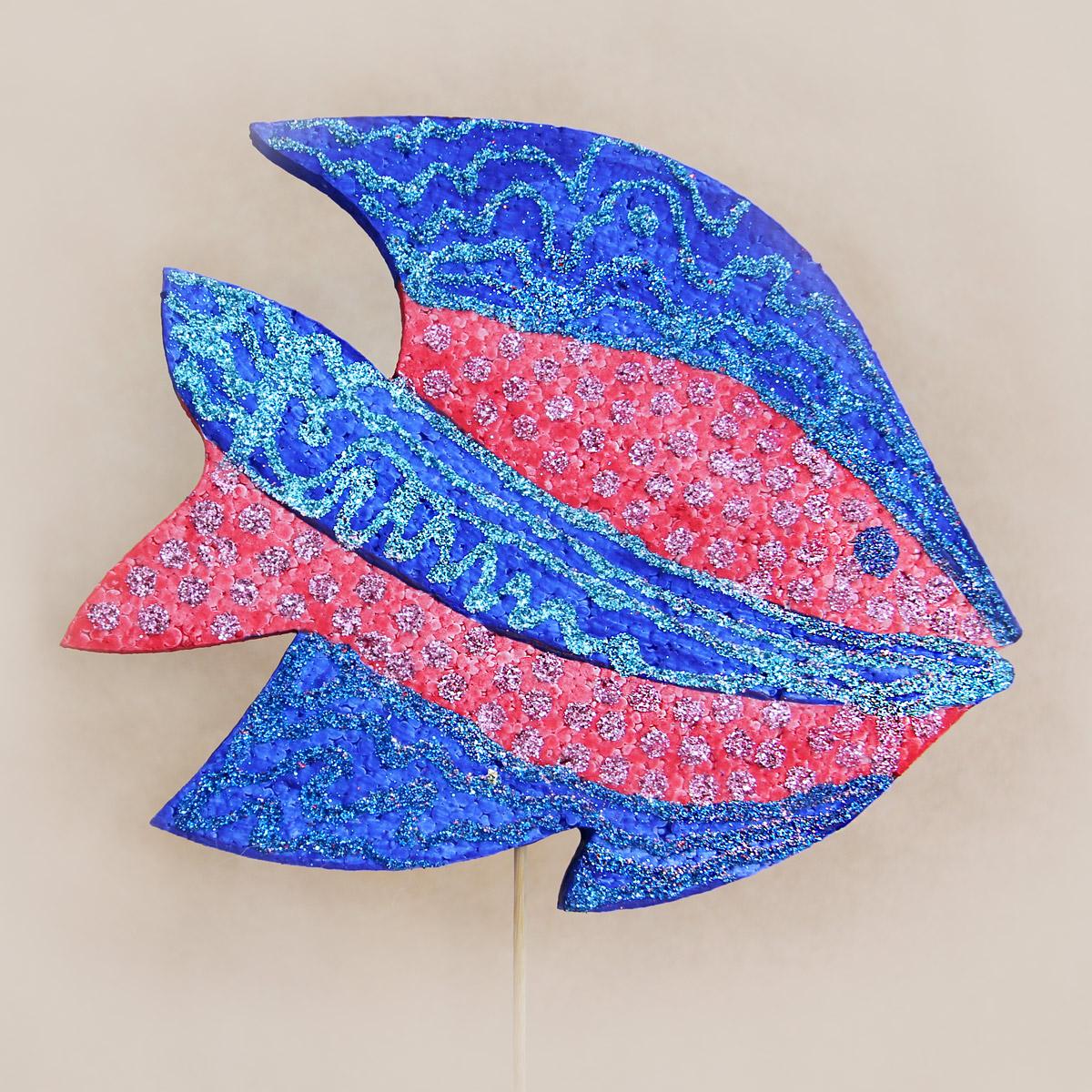 Декоративная рыбка из пенопласта