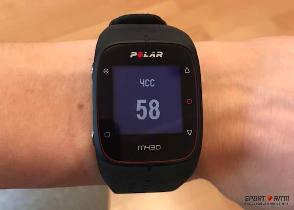пульс в часах Polar M430