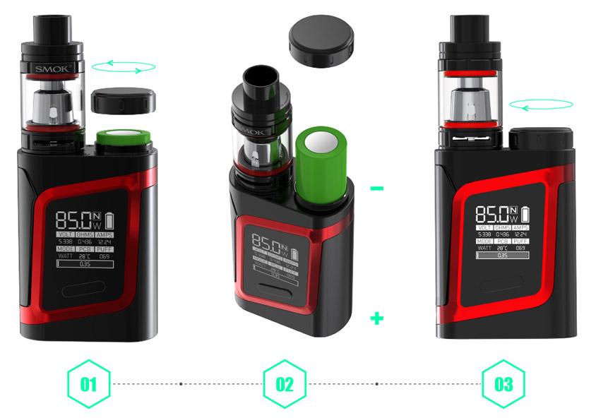 Замена батарейки в SMOK AL85