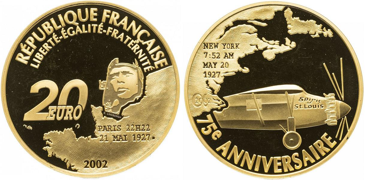 20 евро 75 лет первому трансанлантическому перелету 2002