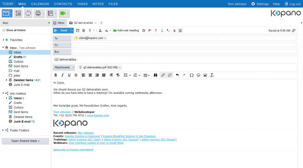 Kopano Email