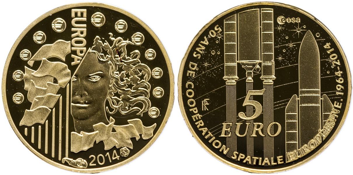5 евро 50-летие Европейского космического агентства 2014