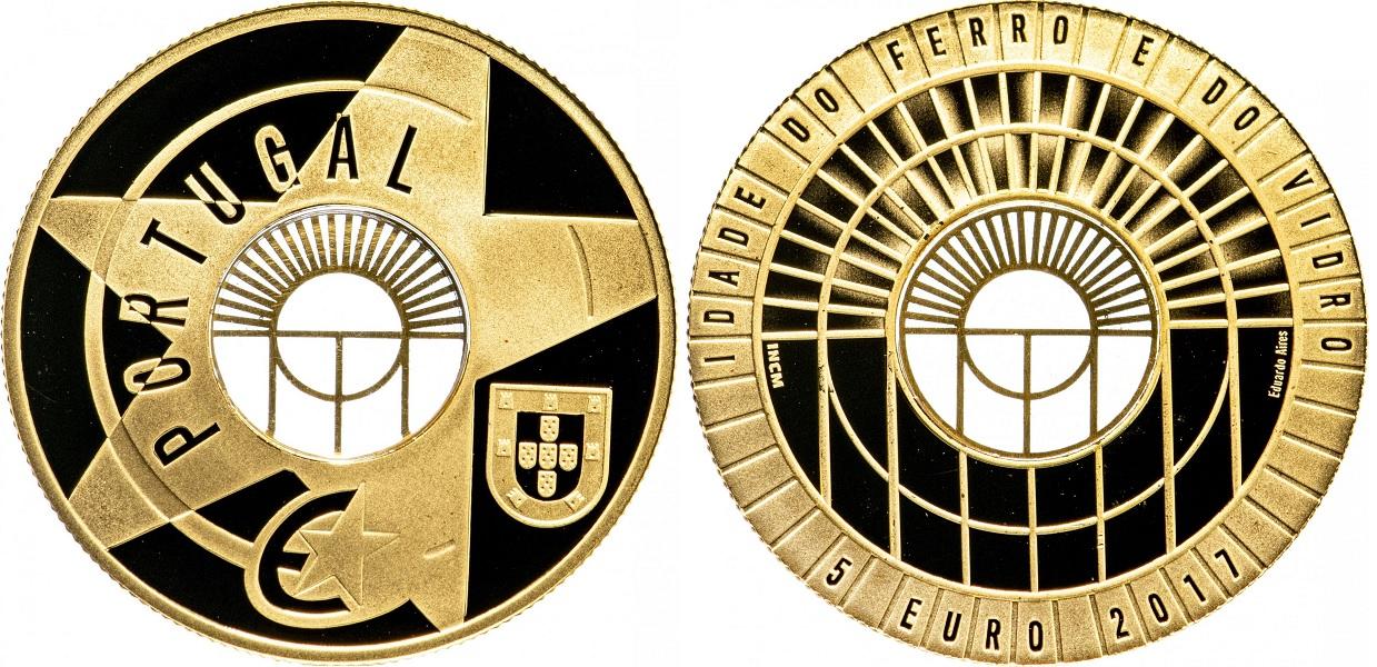 5 евро Век железа и стекла 2017