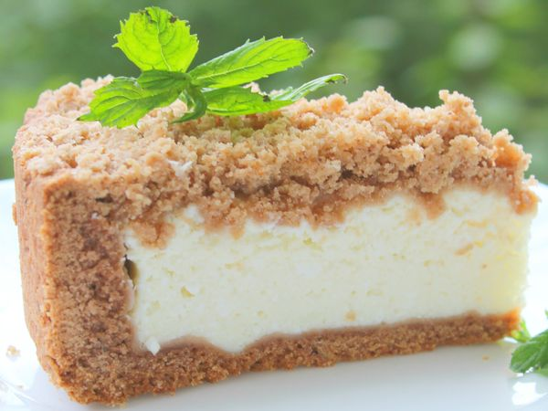 Безглютеновый пирог из творога без сахара