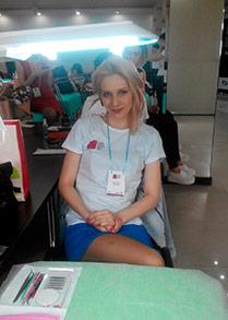 Виктория Довжик на международного чемпионата Lashdesigner 2015