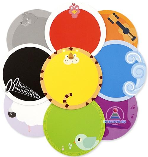 Цветные карточки для умного зайки Alilo R1