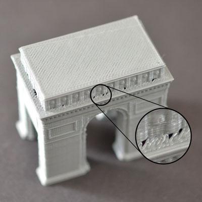 Дыры и щели в углах слоев распечатки на 3д принтере