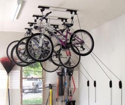потолочный лифт для хранения велосипедов