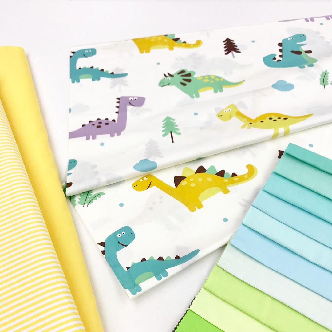 Детская ткань с динозаврами