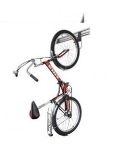 крепление велосипеда на крюке на рейлинге