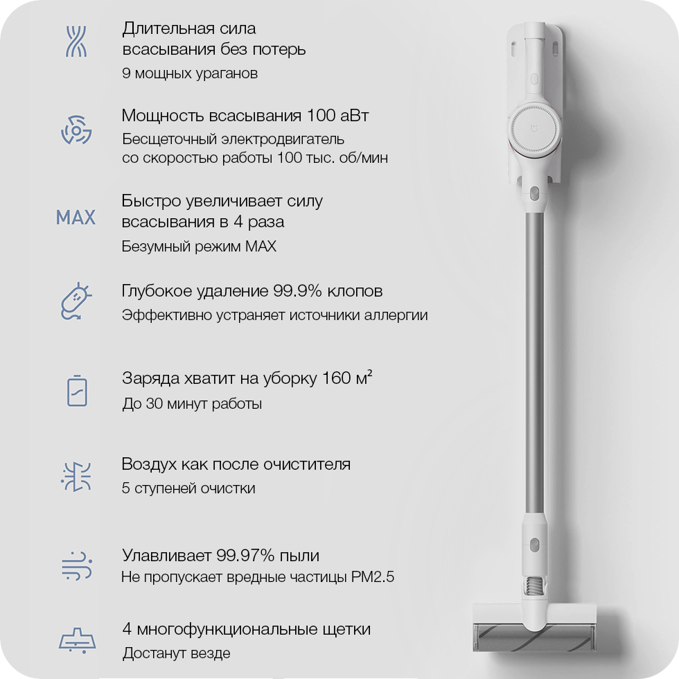 Беспроводной пылесос Xiaomi Mijia Handheld Wireless Vacuum Cleaner