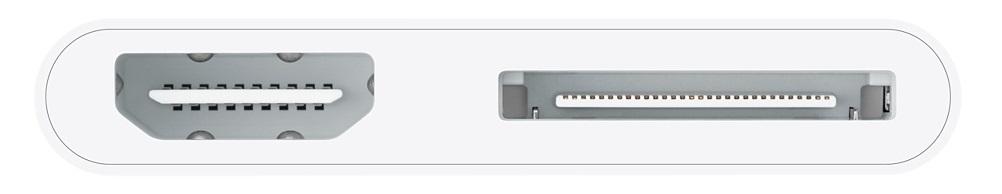 Оригинальный цифровой AV-адаптер Apple Lightning Digital AV Adapter MD098ZM/A передачи изображения с iPhone, iPad и iPod оснащенных 30-контактным разъёмом.