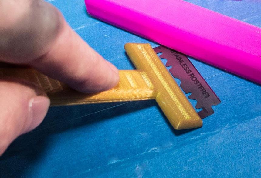 лезвие для снятия распечатки со стола 3д принтера