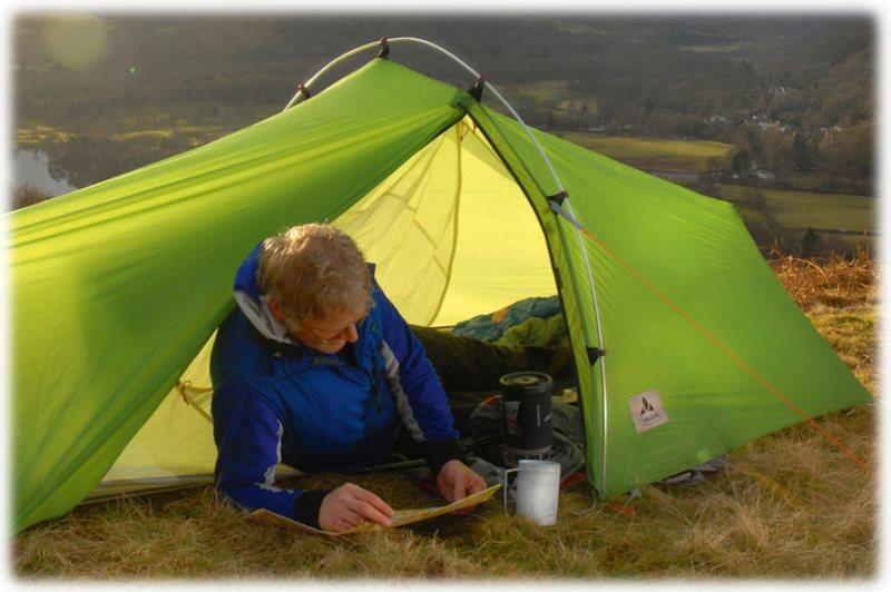 Палатка и горелка