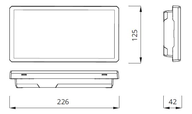 Размеры аварийного светового указателя EXIT S