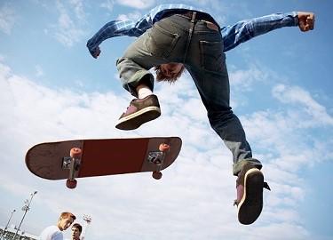 скейт падения