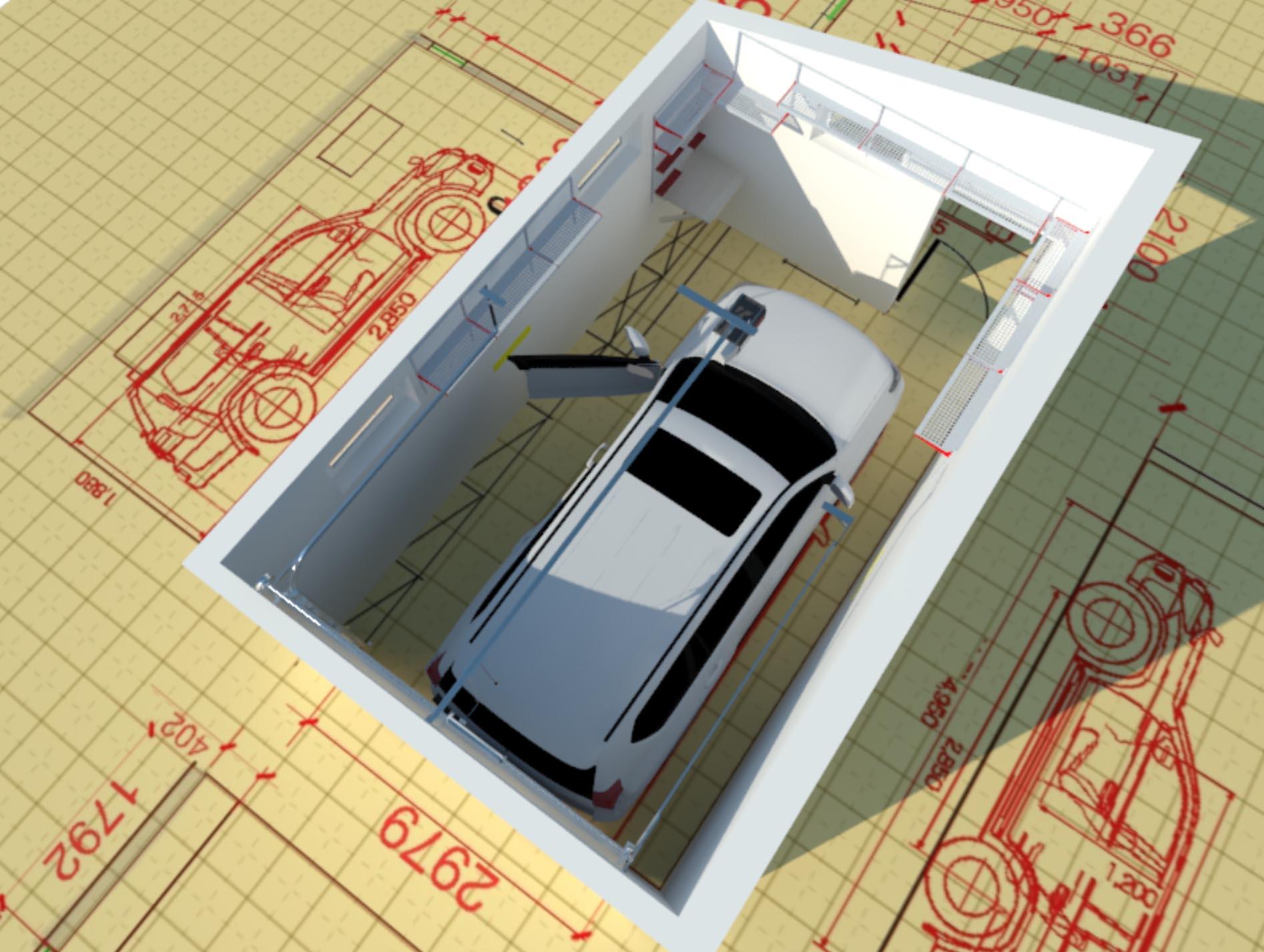 Проект гаража по индивидуальным размерам