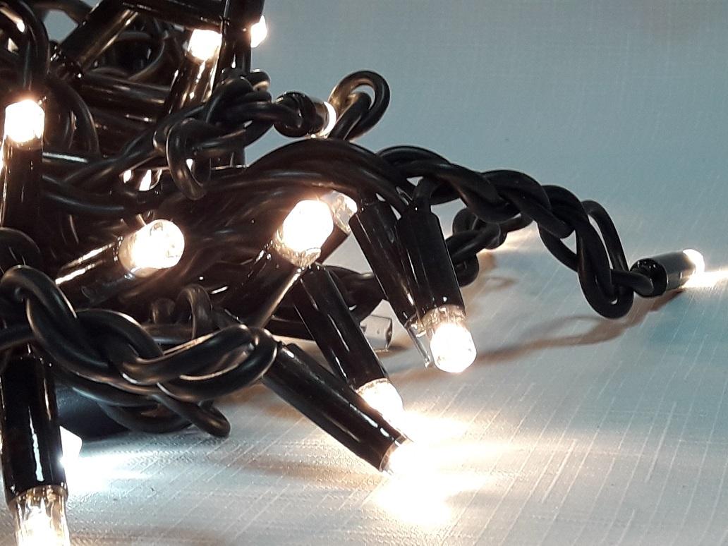 LED уличная бахрома с мерцанием на каучуковом проводе