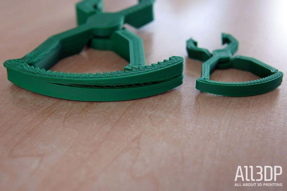 Дефекты при печати ABS в большем и меньшем масштабе