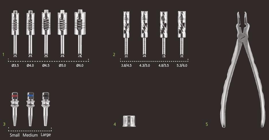 Компоненты Набора для удаления имплантов