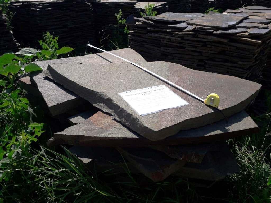 листы камня для мощения