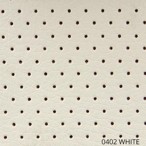 экокожа перфорированная белого цвета