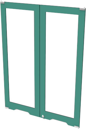 Верхний фасад пластик + стекло