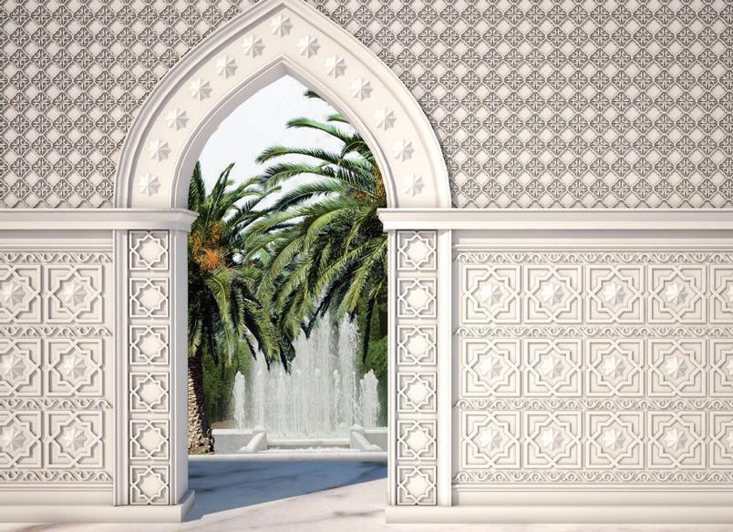 Стена, украшенная орнаментами