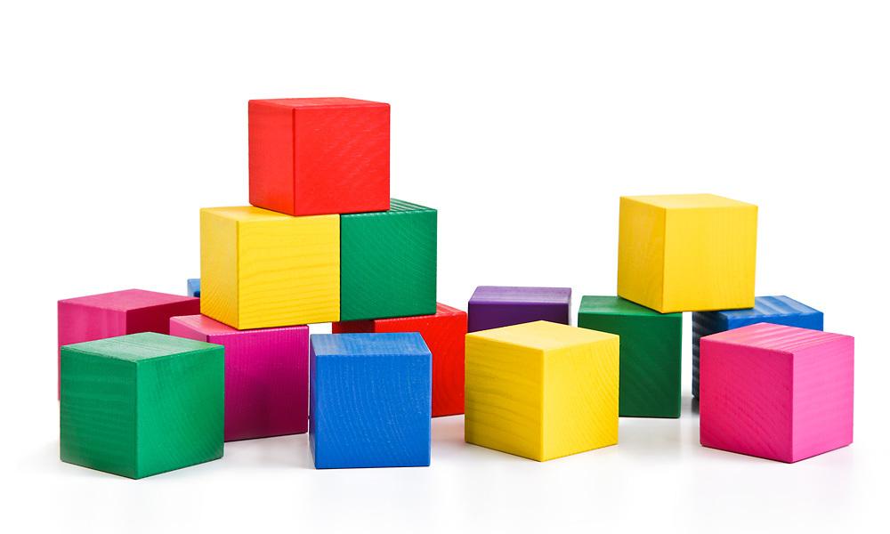 кубики Томик, набор кубиков из дерева для детского сада